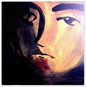 "Looking Into a Wine Glass 30"" h x 30"" w"